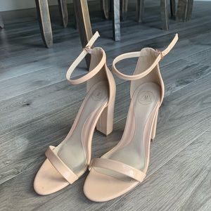 Missguided Nude Ankle Strap Heels Size 9